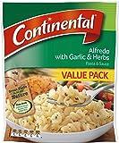 Continental Value serves each Pasta & Sauce Alfredogarlic & Herb, 5 x 145g