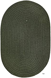 product image for Rhody Rug Madeira Indoor/Outdoor Reversible Braided Rug (5' x 8') Sage 6' Round/Square