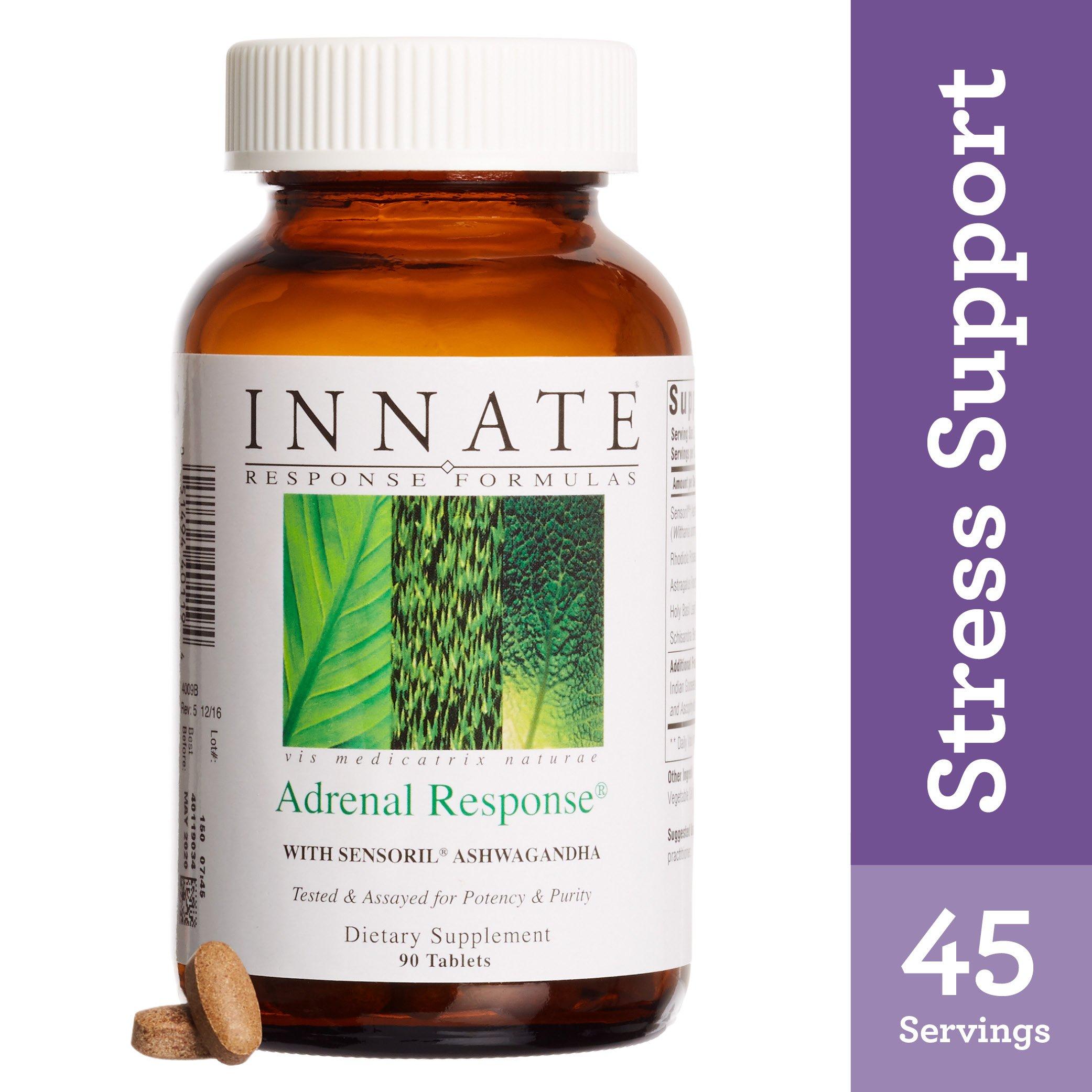INNATE Response Formulas - Adrenal Response, Sensoril Ashwagandha Supports Response to Stress and Fatigue, 90 Tablets