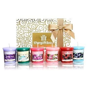 Types Parfumées Superbes 3 Bougeoirs Bougie Et Ensemble Verre CadeauComprend Bougies Le Parfumée Différents Cadeau Par En De Luxe 8 UVSMpz