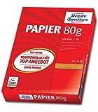 Avery Zweckform 2575A - Papel (DIN A4, sin recubrimiento, 80 g/m², 500 hojas, en embalaje protector)