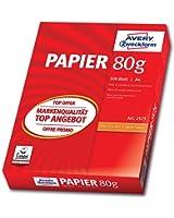 Avery Zweckform 2575 Drucker- und Kopierpapier A4, 80 g/m², 500 Blatt, alle Drucker, weiß
