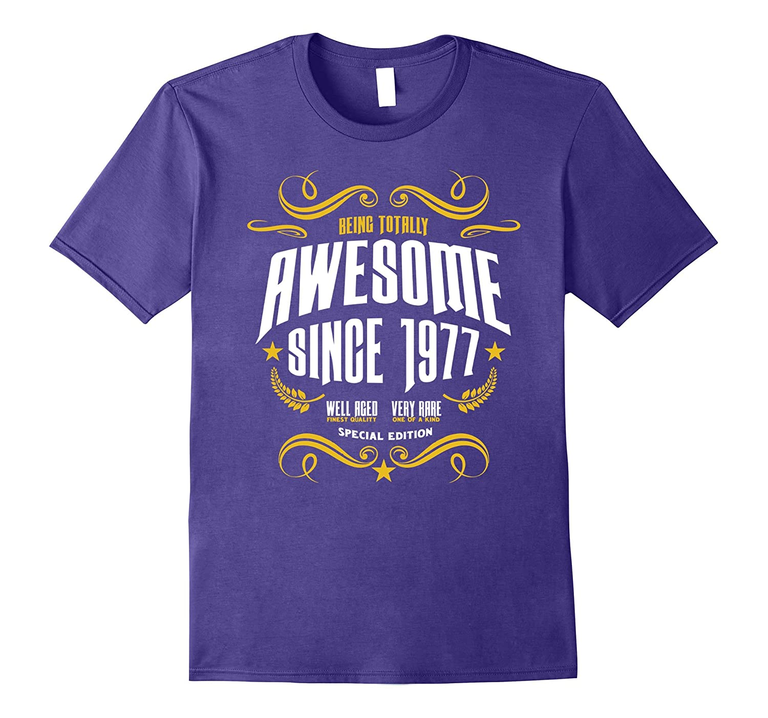 Awesome Since 1977 Birthday Shirt for Men  Women-PL