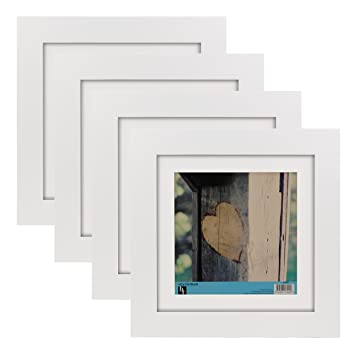 BorderTrends Timber 10x10-Inch Square Solid Wood Photo Frame with ...