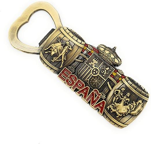 MovilCom® - iman Nevera| Figuras magneticas | imanes Nevera Personalizados de España Abridor de Botellas | diseño Exclusivo Recuerdo de España (Mod.010): Amazon.es: Hogar