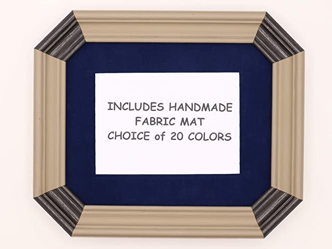 Amazoncom Art Deco Style Picture Frame With 20 Fabric Mat Color