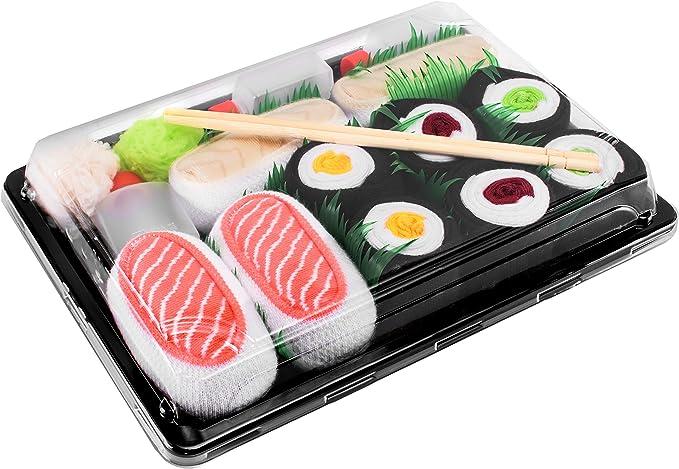calcetines con forma de sushi