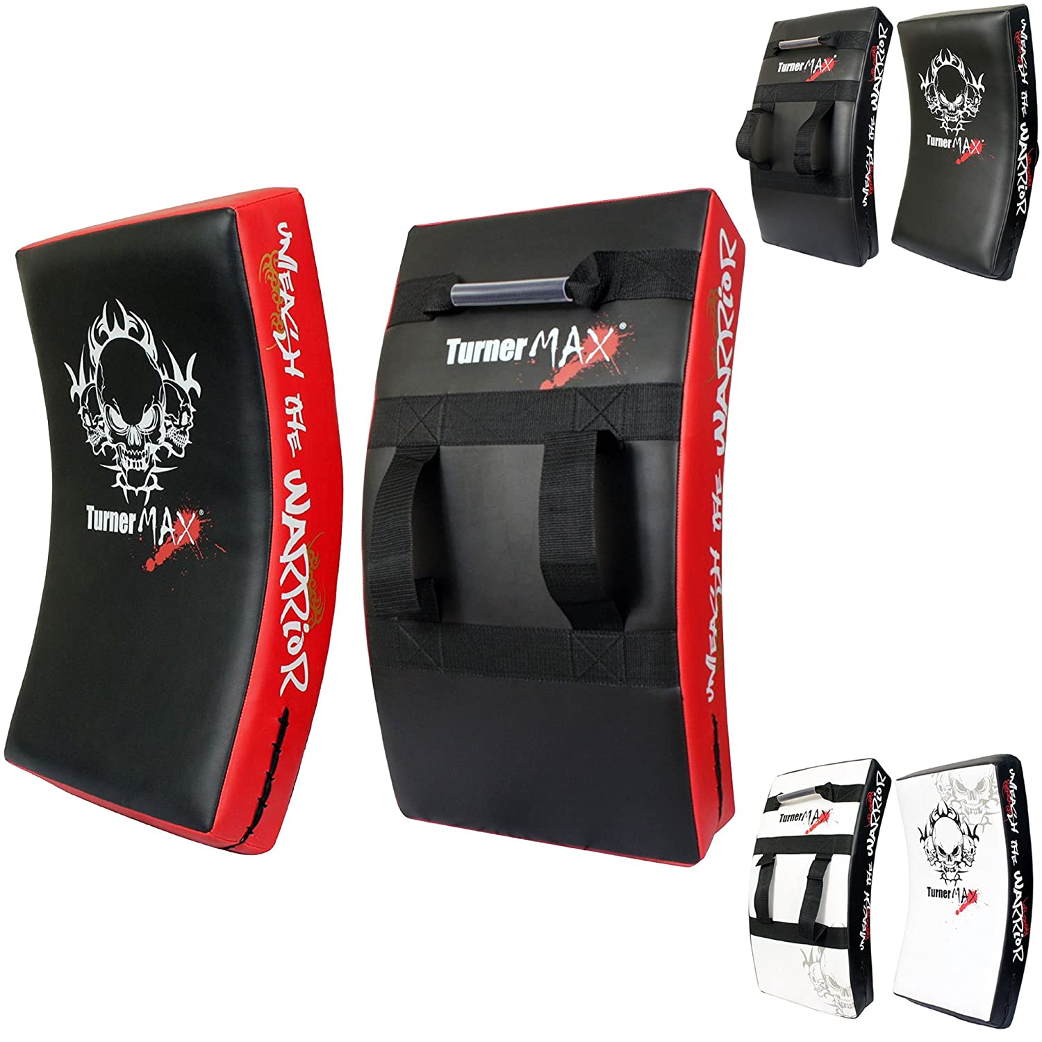 TurnerMAX BOXING KICK PAD, CURVED STRIKE SHIELD, Training for MMA, Kick Boxing, Karate - 赤/Blk
