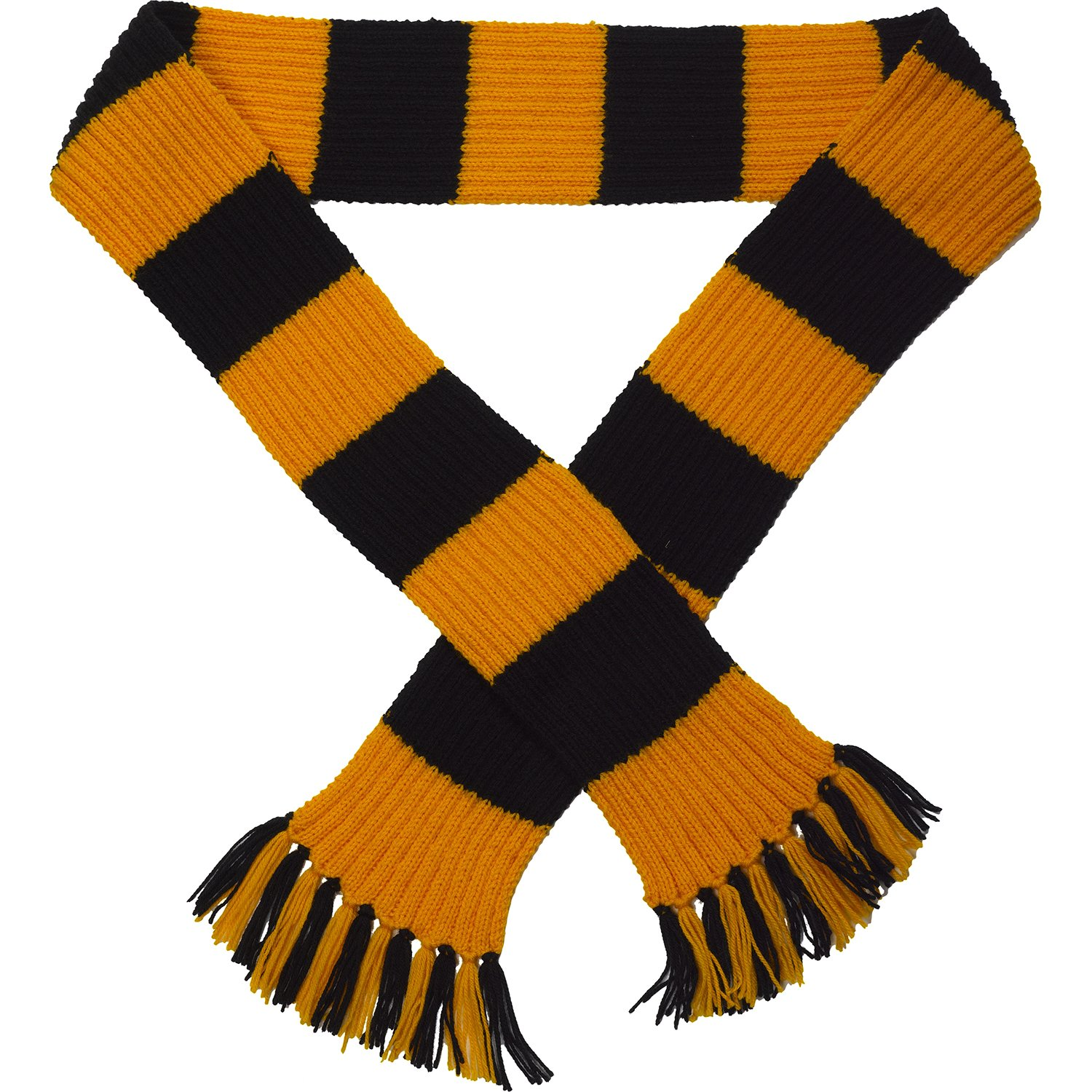 Premier League Striped Football Scarf Kit - Knitting Pattern Wool & Needles (Chelsea - Royal/White) Classic Home Store