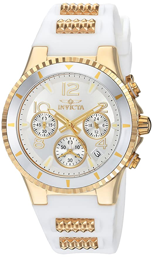 Amazon.com: Invicta Womens BLU Quartz Watch with Silicone Strap, White, 24 (Model: 24187: Invicta: Watches