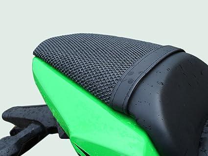 Cubierta TRIBOSEAT para Asiento Antideslizante Accesorio Personalizado Negro Compatible con Kawasaki Ninja 650 (2017-2019)