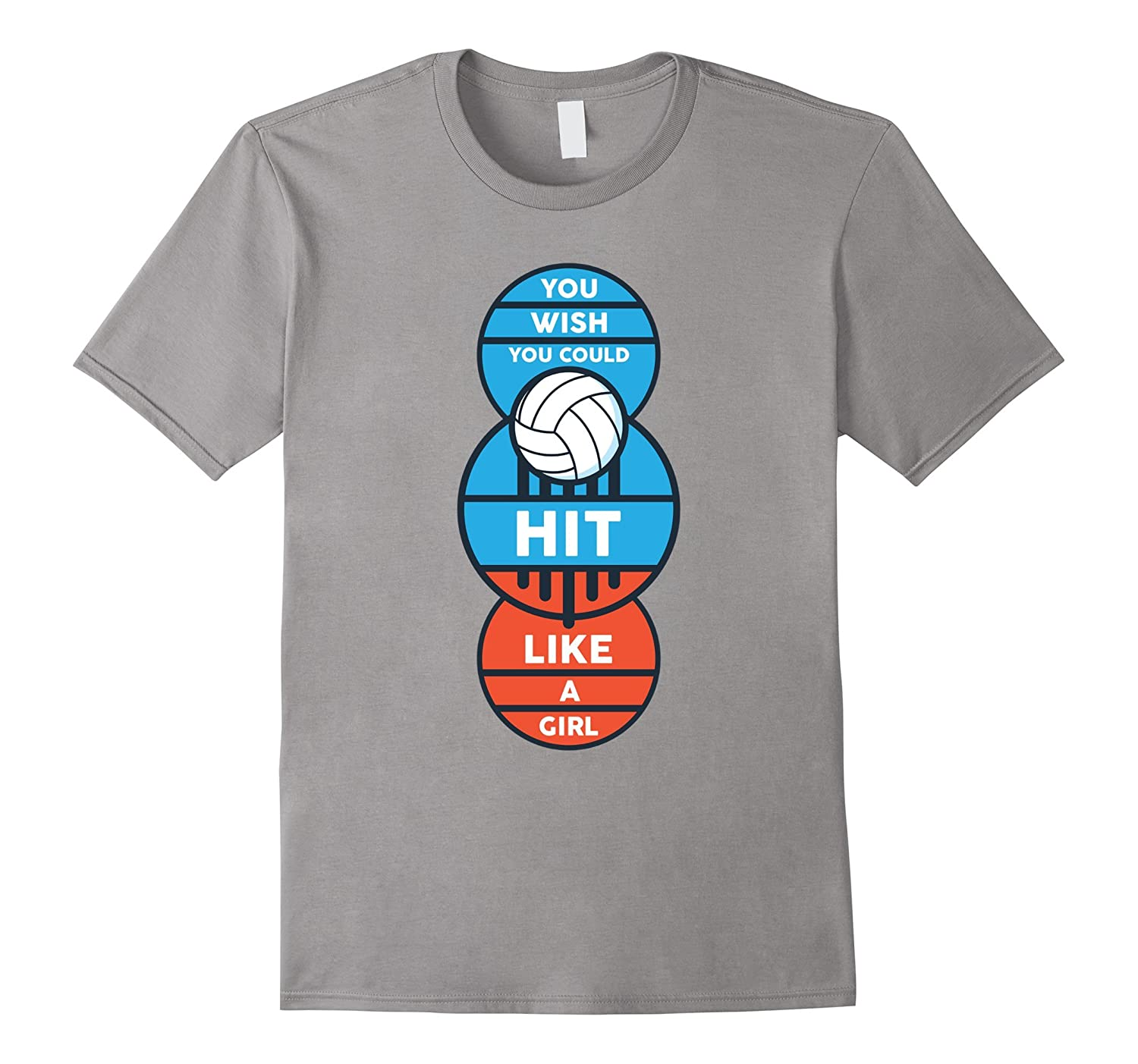 You Wish You Could Hit Like A Girl Funny Volleyball T-Shirt-Rose
