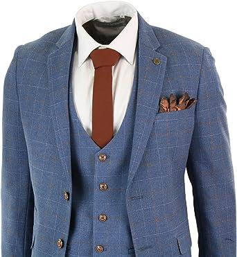 Amazon.com: Marc Darcy - Traje para hombre, color azul claro ...