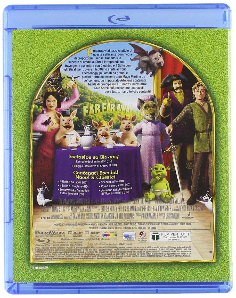 Amazon.com: shrek - la quadrilogia (5 Blu-Ray) Italian Import ...