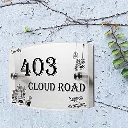 a4721f6294ee Amazon.com: JEXICASE Customized Personalised Door Plate, Potted ...