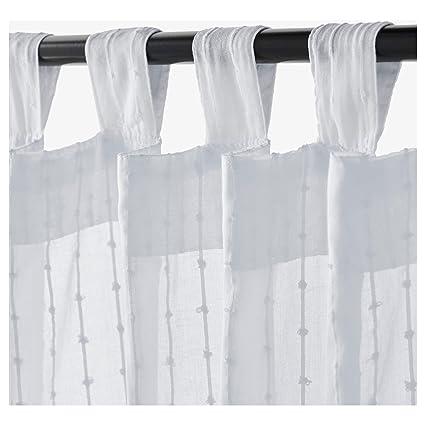 Ikea Matilda Sheer Curtains 1 Pair White