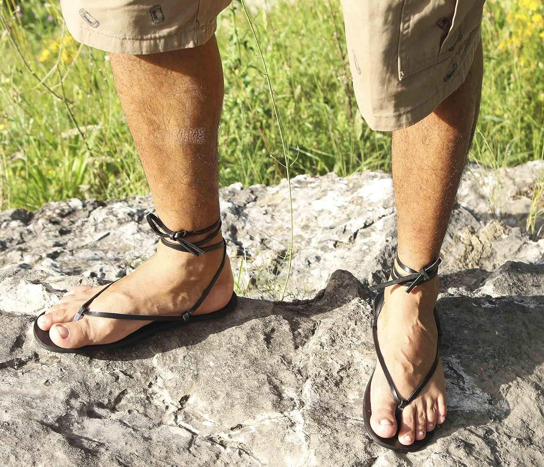 Barefoot leather flat sandals/flexible