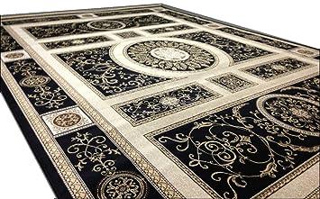 Versace Medusa Design Seiden Teppich Kunstseide Maander Orient