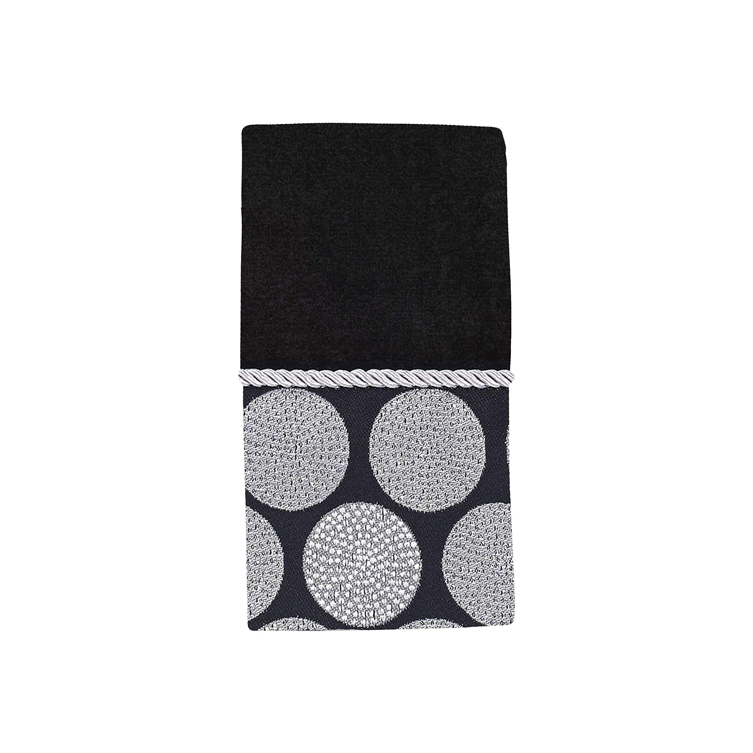 Avanti Linens Dotted Circles FINGERTIP, Medium, Black