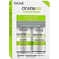 Inoar Kit Duo Shampoo e Condicionador CicatriFios Plástica Capilar 250ml, Inoar, Não