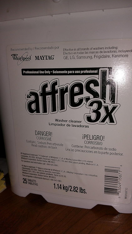 Amazon.com: Affresh 3X Strength Tablets - Bucket of 25 - W10189713: Home Improvement