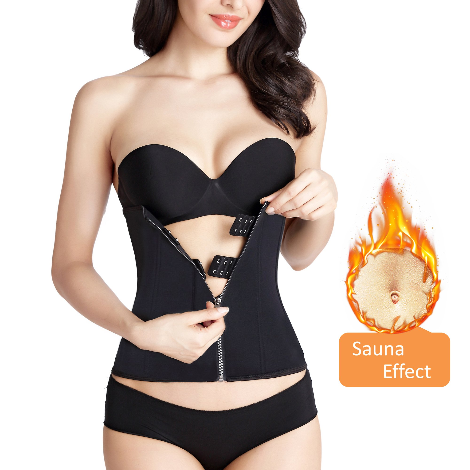 e06183bbc6 Zolkamery Women s Waist Trainer for Weight Loss Waist Corset Shapewear  Cincher Body Shaper for Hot Sweat