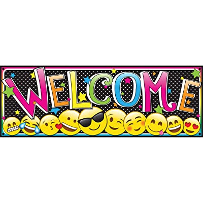 ASHLEY PRODUCTIONS Magnetic Emoji Welcome Banner: Toys & Games
