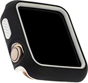 WITHit Two-Piece Protective Bumper for Apple Watch 42mm, Black/Gray – Shock-Absorbing Apple Watch Cover, Protects from Scratches/Dings