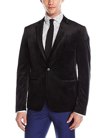 GUESS Men's Velvet Slim Blazer at Amazon Men's Clothing store: