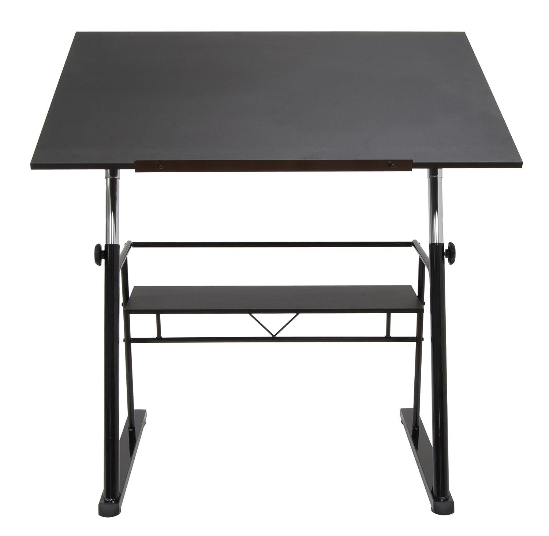 Amazon.com: STUDIO DESIGNS Zenith Drafting Table In Black 13340: Arts,  Crafts U0026 Sewing