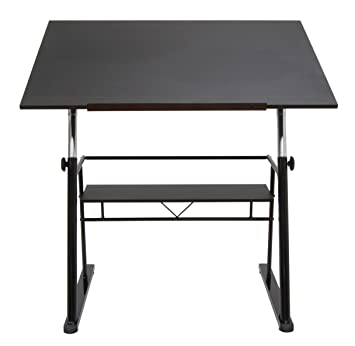 Great STUDIO DESIGNS Zenith Drafting Table In Black 13340