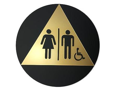Amazoncom ADA Compliant California Title Restroom Signs - Handicap unisex bathroom signs