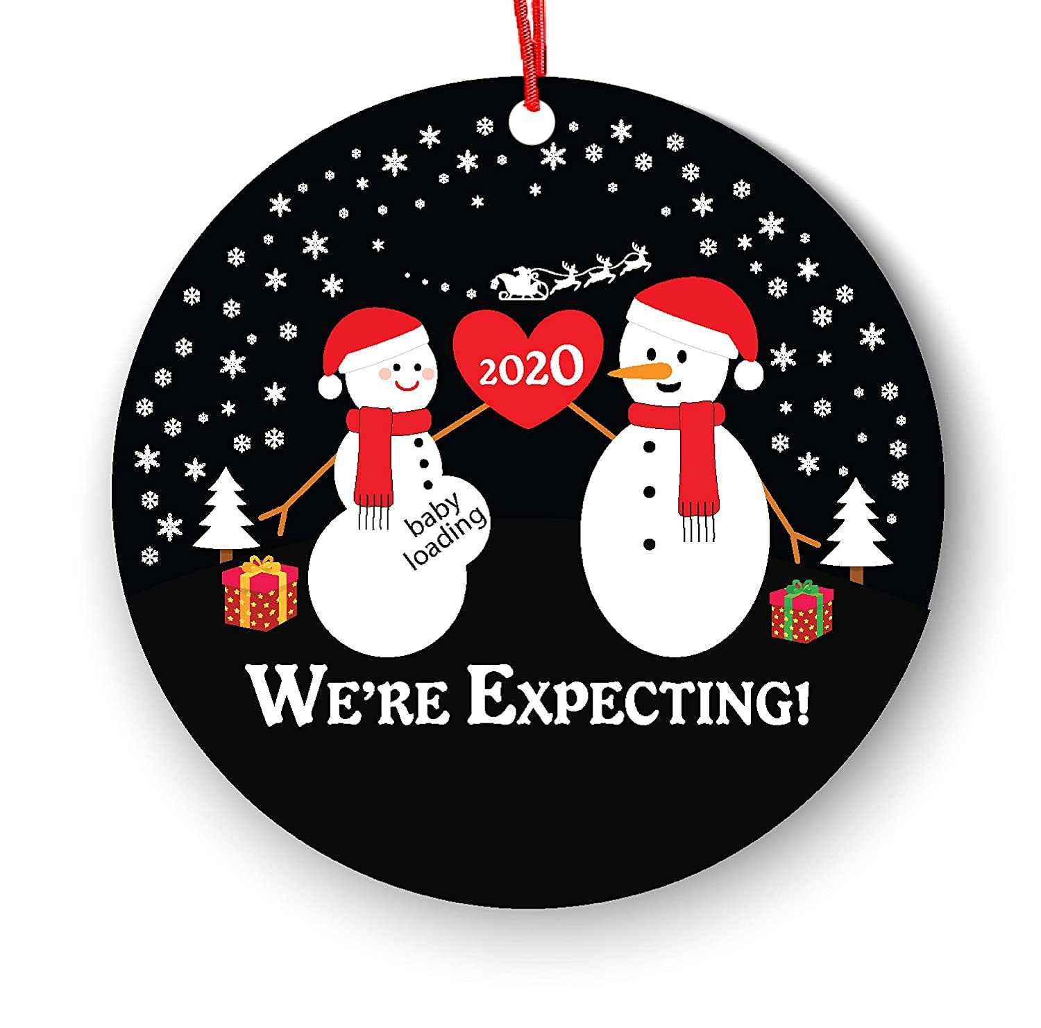 Were Expecting Christmas Ornament Pregnancy Announcement Pregnant Reveal Were Expecting Christmas Ornament We re Expecting Christmas Ornament 2020 Expecting Parents Pregnancy Announcement