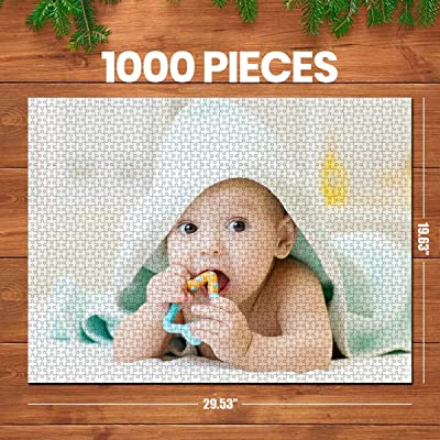 ifeolo 1000 Pieces Custom Picture Puzzles DIY Jigsaw Puzzles from Photos Toys Gift Mother's Day, Birthday Large Piece for Adults, Kids: Toys & Games