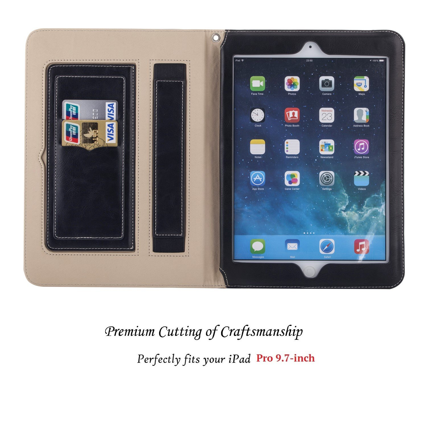 MIDNIGHT BLACK LEATHER New Phone Case Holder Accessories For Apple ...