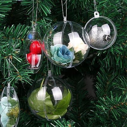 Factory Balls Christmas.Amazon Com Clear Plastic Balls Clear Fillable Ornaments