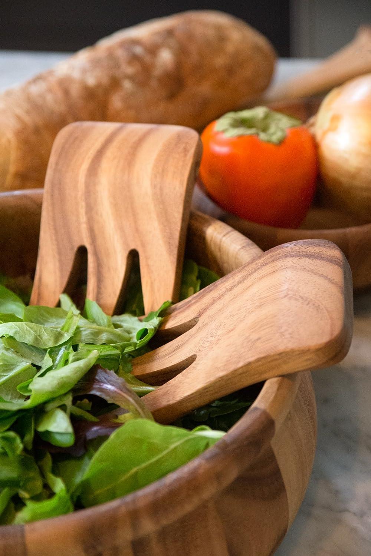 Bear Claw Salad Server Set Ironwood Gourmet 28152 Kodiak Wood