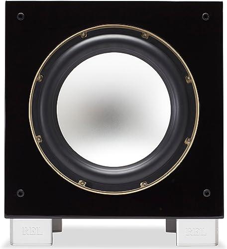 REL Acoustics S 5 SHO Subwoofer Super High Output , Longbow Wireless Compatible, Black Lacquer