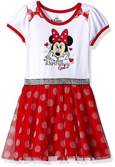 0bcc7470f56 Disney Minnie Mouse - Vestido de cumpleaños para niña  Amazon.com.mx ...