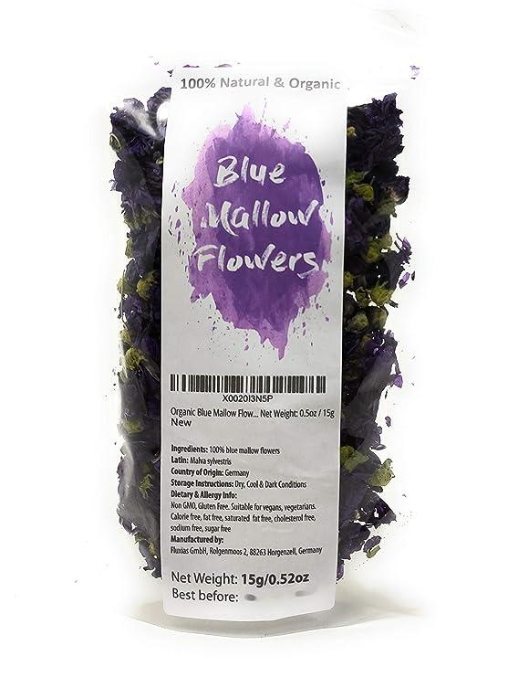 Dried Blue Malva Flowers