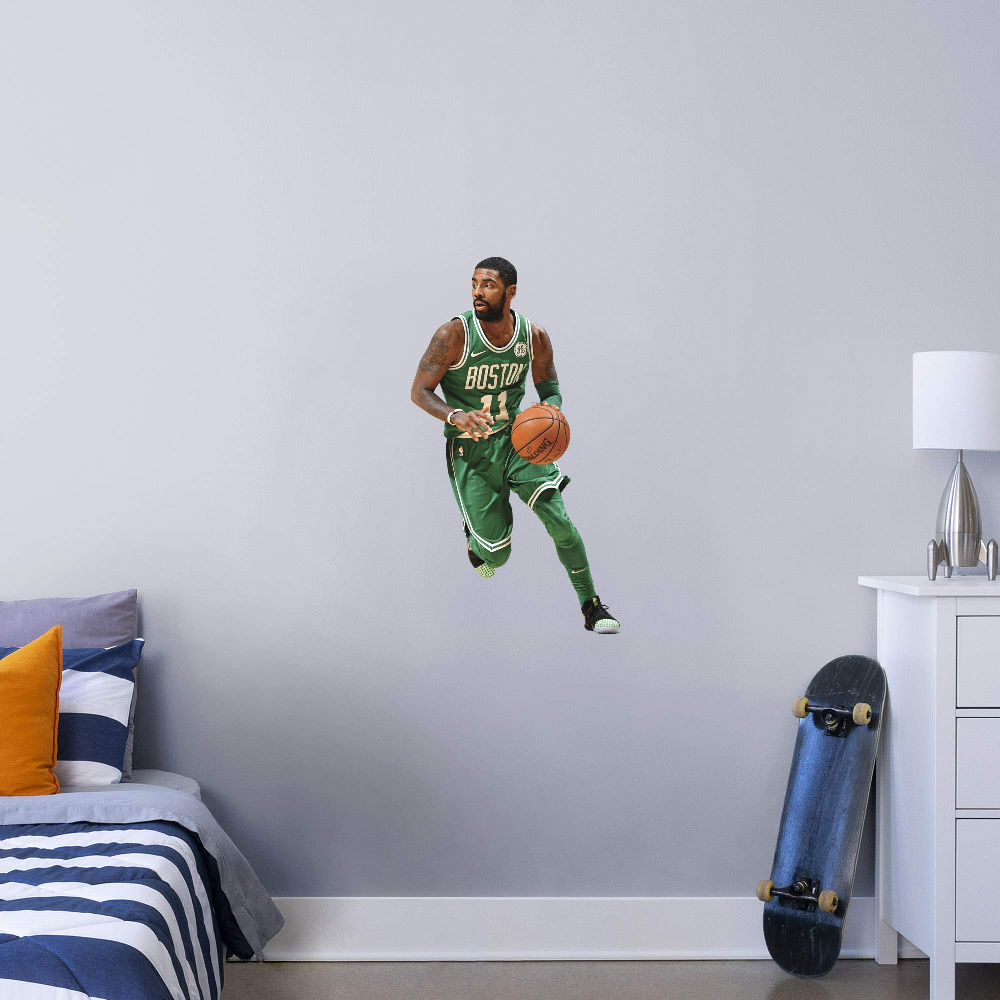 Fathead NBA Boston Celtics Kyrie Irving Kyrie Irving- Officially Licensed Removable Wall Decal, Multicolor, X-Large - 1900-00305-004 by FATHEAD