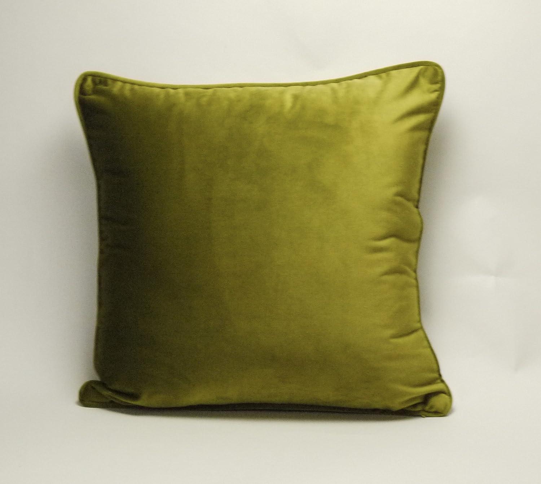 "Chenille Like Plain Green Cushion Cover Pillow Case 17/"" x 17/"" UK MADE"
