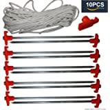 10pcs Galvanized Non-rust 10'' Pop up Canopy Tent Peg Stakes
