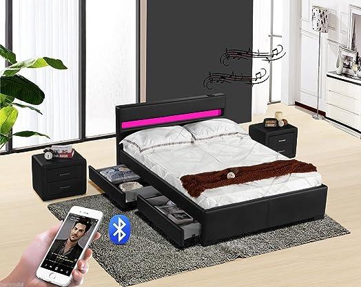 Exclusive Harmin Designer Music Bed, Bluetooth, Speakers, LED ...
