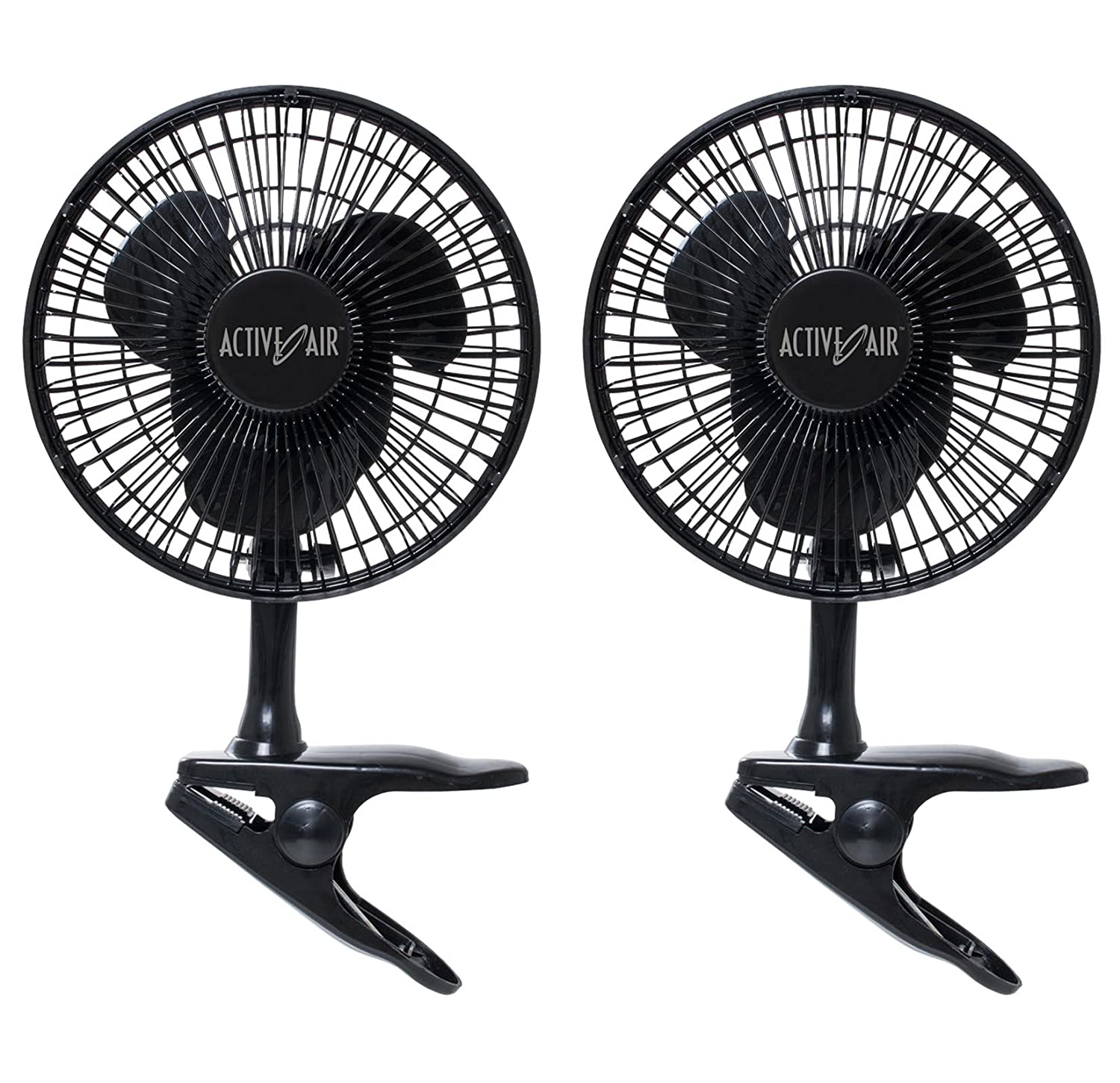 "(2) Active Air 6"" 5W Magnetic Drive Clip On Grow Fans w/ Brushless Motor 