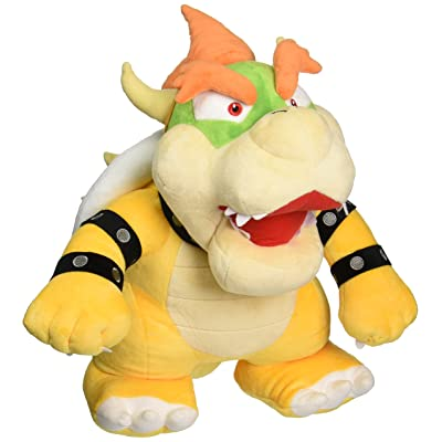 "Nintendo Official Super Mario - 1244 - Bowser 15"" Large Plush: Toys & Games"