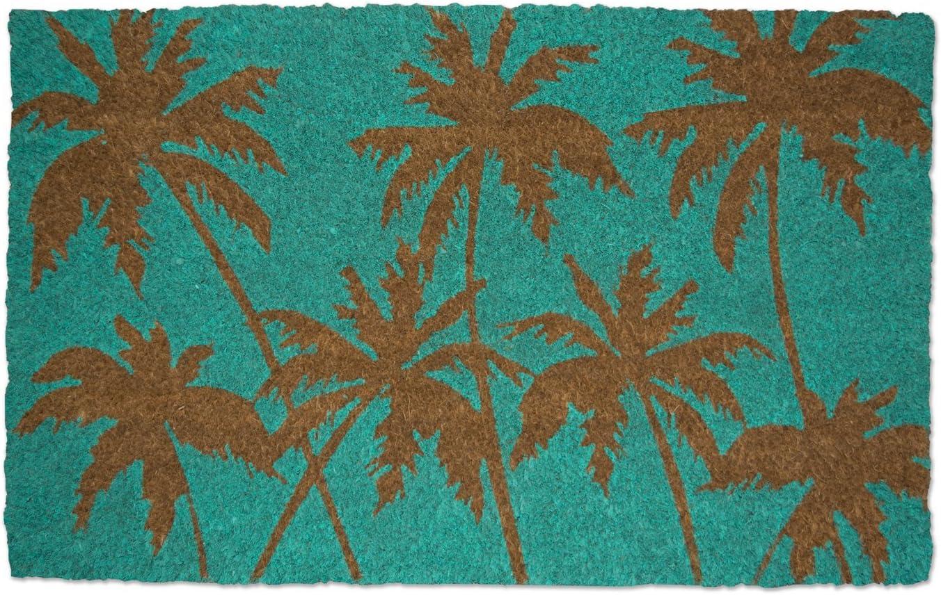 """DII Natural Coir Fiber, 18x30"""" Entry Way Outdoor Door Mat with Non Slip Backing - Palm Beach"""