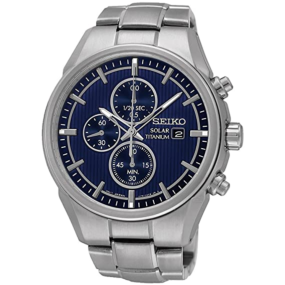 Reloj Seiko Solar Ssc365p1 Hombre Azul