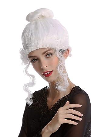 WIG ME UP ® - 68539-P60 Peluca Mujer Halloween Carnaval histórico Romanticismo Renacimiento Barroco