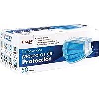 Best Trading 50 Cubrebocas, Tapabocas Calidad Premium, Azul Termosellado con 3 Capas de Protección, Mascarilla…